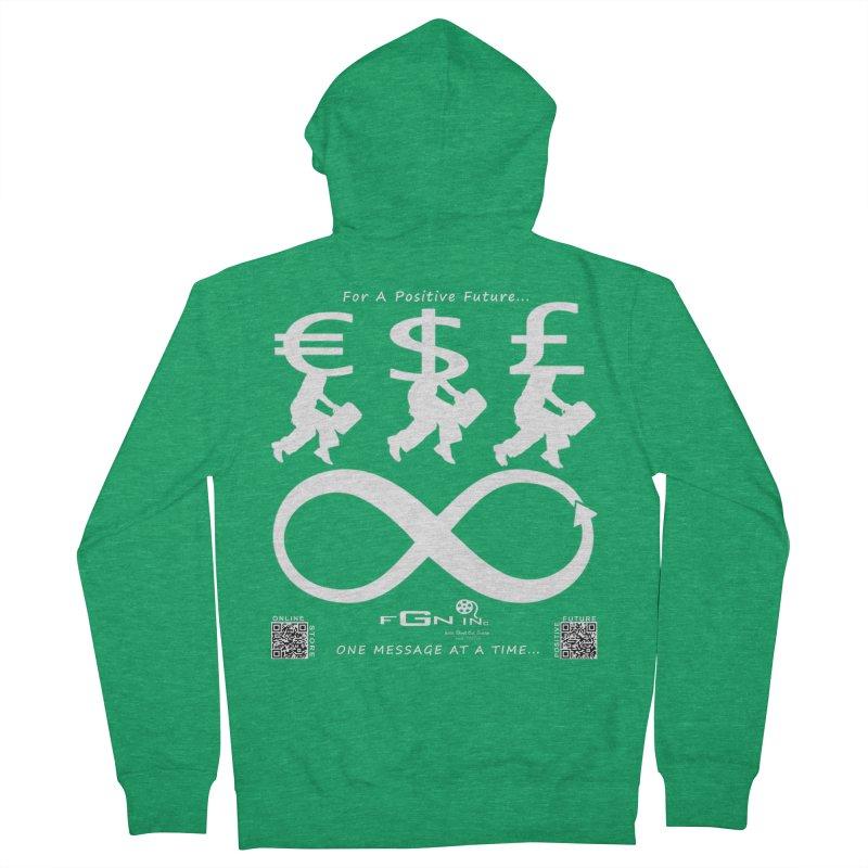672A - The Infinity Money Men Women's Zip-Up Hoody by FGN Inc. Online Shop