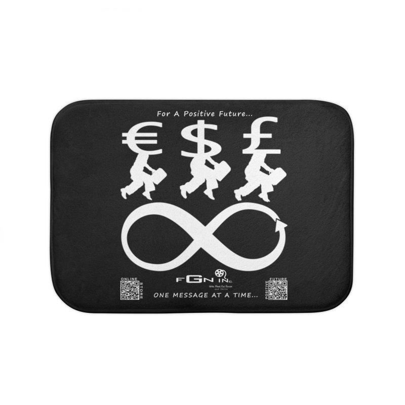 672A - The Infinity Money Men Home Bath Mat by FGN Inc. Online Shop