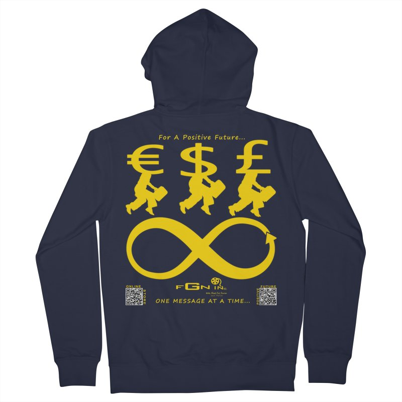 672B - The Infinity Money Men Women's Zip-Up Hoody by FGN Inc. Online Shop