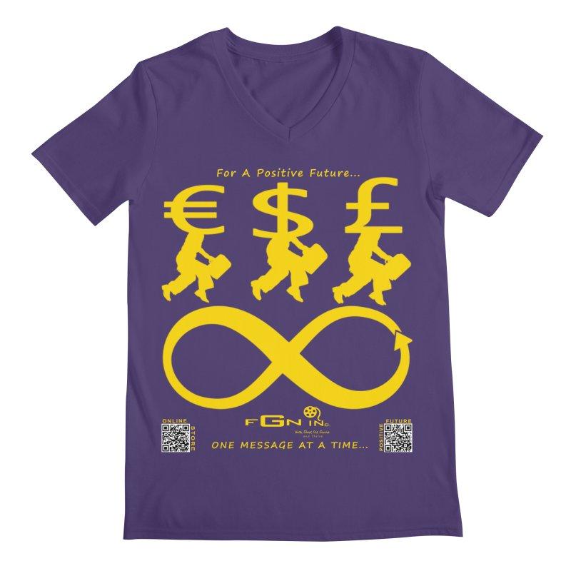 672B - The Infinity Money Men Men's V-Neck by FGN Inc. Online Shop