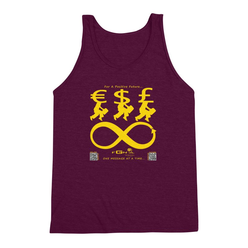 672B - The Infinity Money Men Men's Triblend Tank by FGN Inc. Online Shop