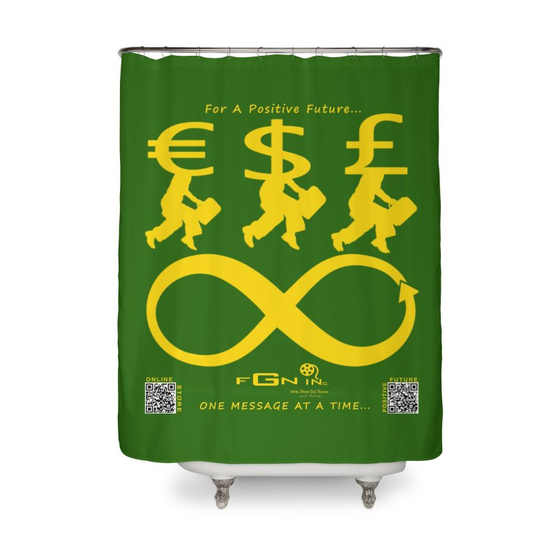 672B - The Infinity Money Men Home Shower Curtain by FGN Inc. Online Shop