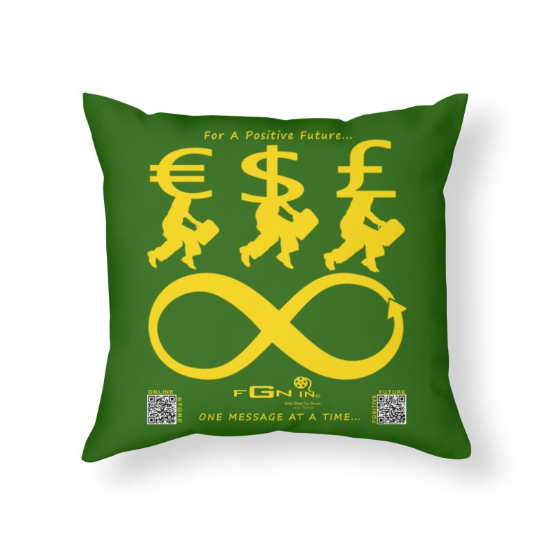 672B - The Infinity Money Men Home Throw Pillow by FGN Inc. Online Shop