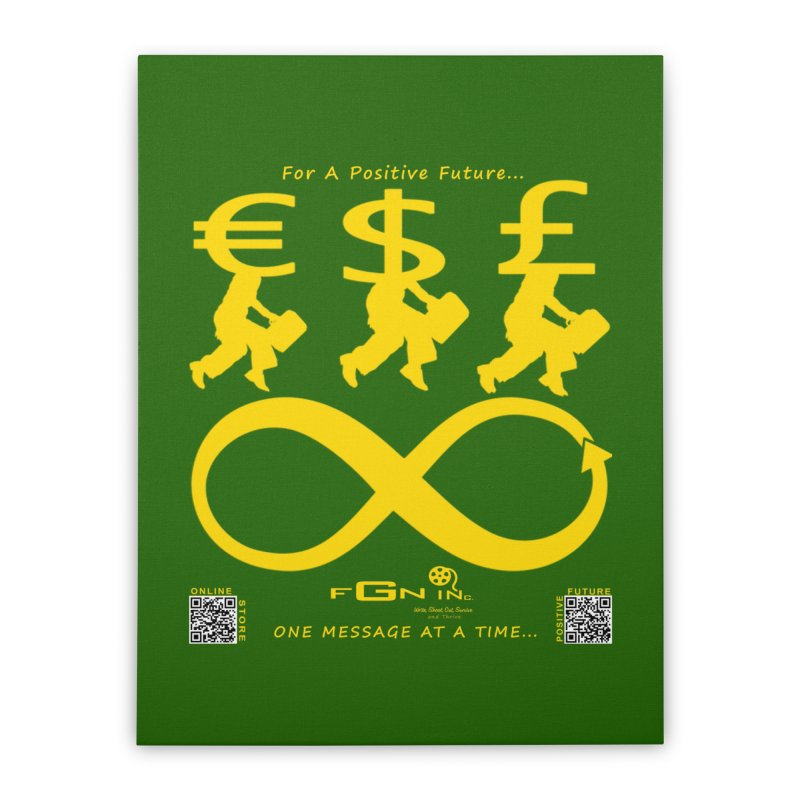 672B - The Infinity Money Men Home Stretched Canvas by FGN Inc. Online Shop