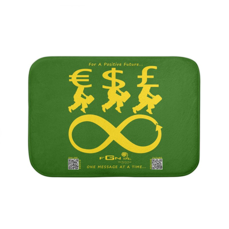 672B - The Infinity Money Men Home Bath Mat by FGN Inc. Online Shop