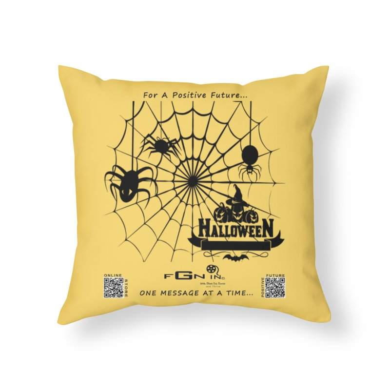 682 - HalloweeN Home Throw Pillow by FGN Inc. Online Shop
