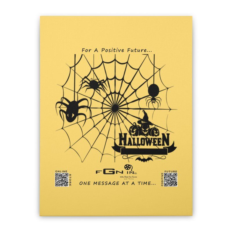 682 - HalloweeN Home Stretched Canvas by FGN Inc. Online Shop