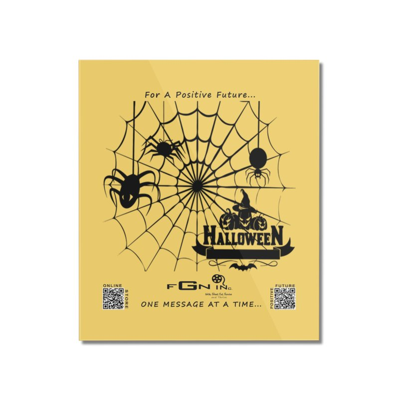 682 - HalloweeN Home Mounted Acrylic Print by FGN Inc. Online Shop