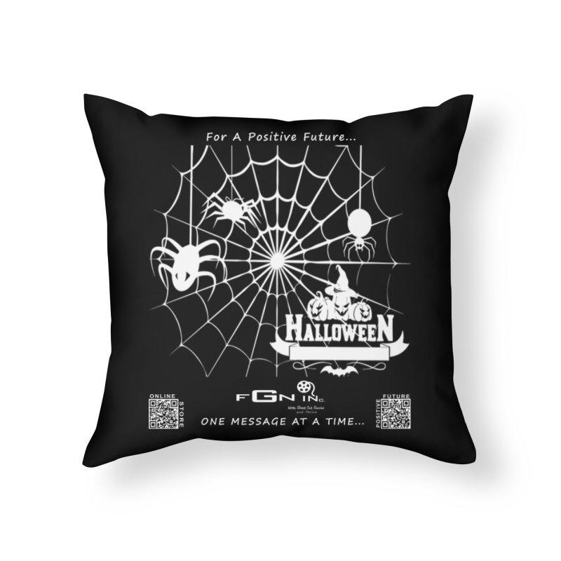 682A - HalloweeN Home Throw Pillow by FGN Inc. Online Shop