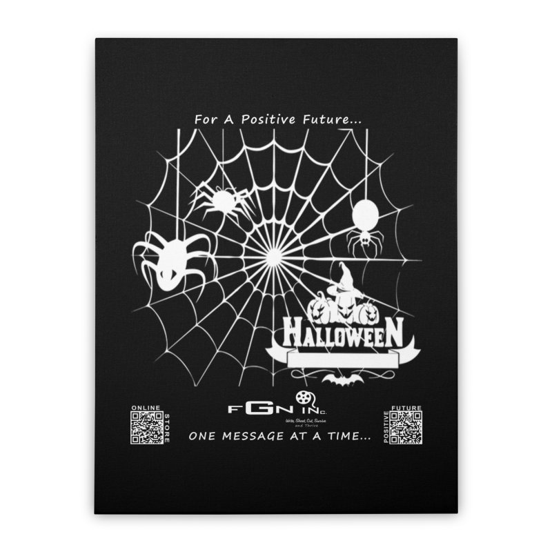 682A - HalloweeN Home Stretched Canvas by FGN Inc. Online Shop