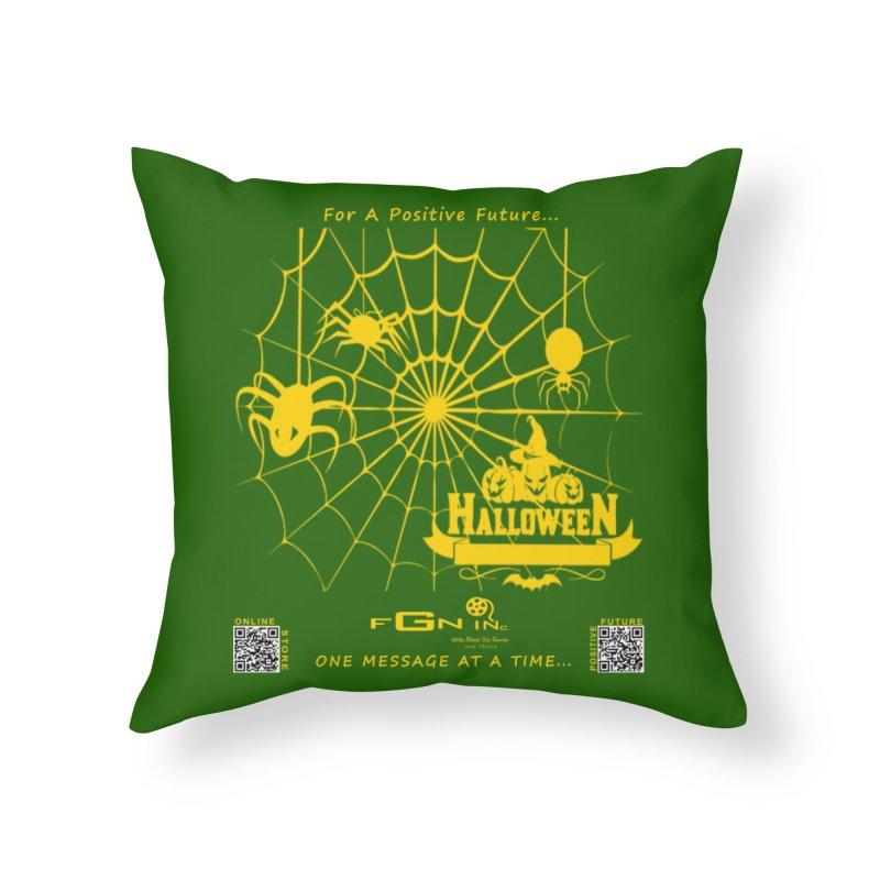 682B - HalloweeN Home Throw Pillow by FGN Inc. Online Shop