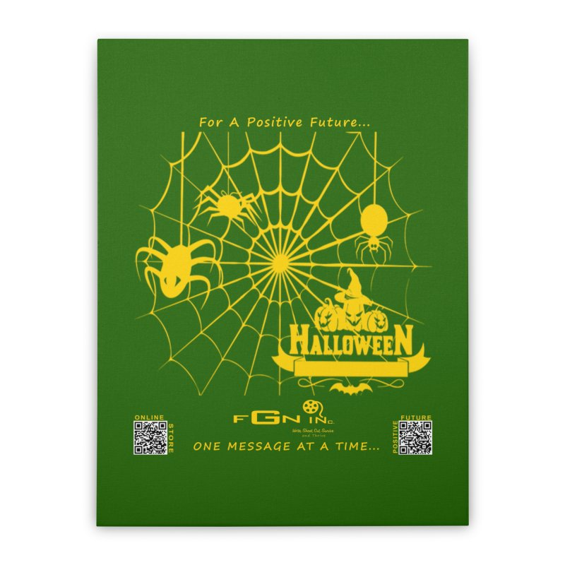 682B - HalloweeN Home Stretched Canvas by FGN Inc. Online Shop