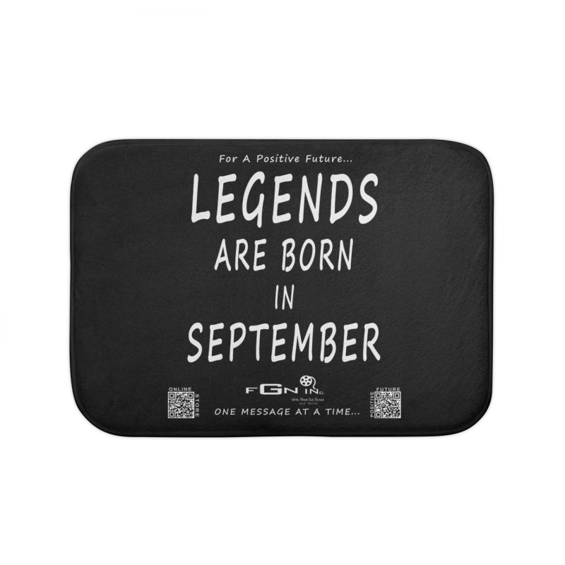 684A - Legends Are Born In September Home Bath Mat by FGN Inc. Online Shop