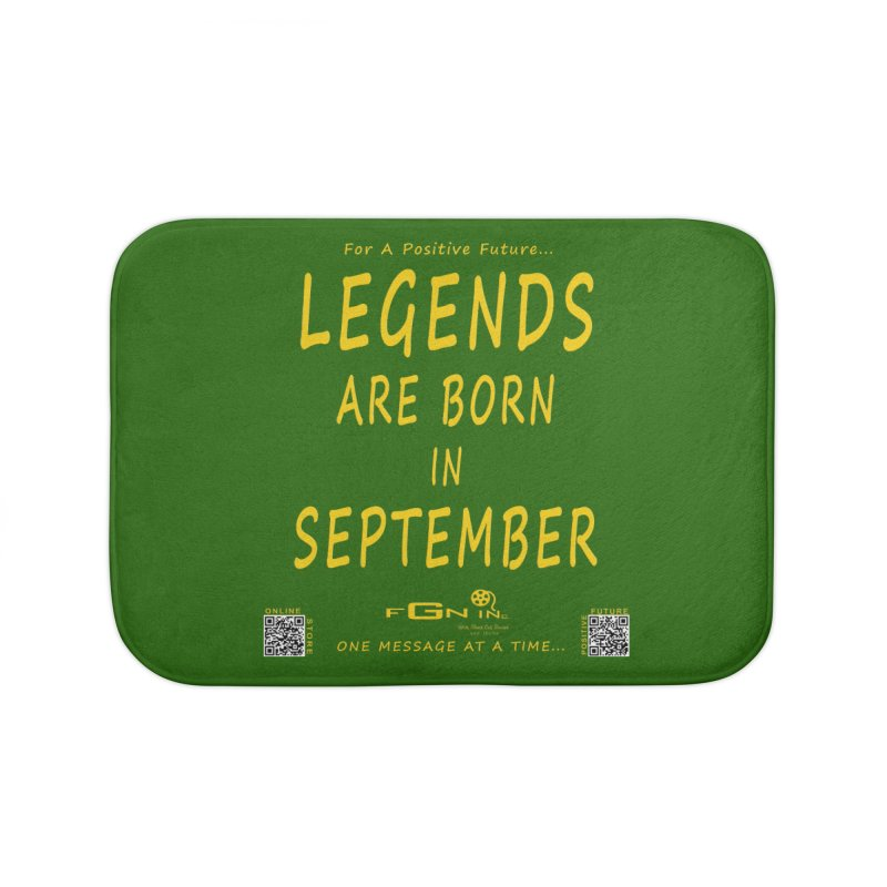 684B - Legends Are Born In September Home Bath Mat by FGN Inc. Online Shop