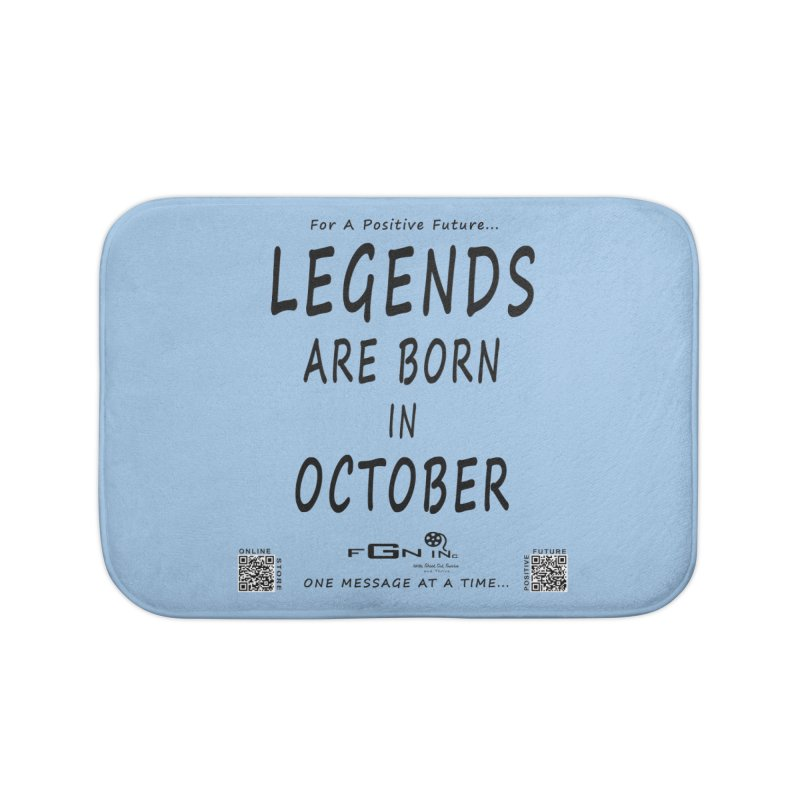 685 - Legends Are Born In October Home Bath Mat by FGN Inc. Online Shop