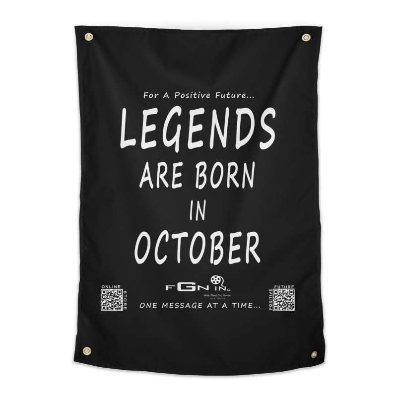 685A - Legends Are Born In October Home Tapestry by FGN Inc. Online Shop