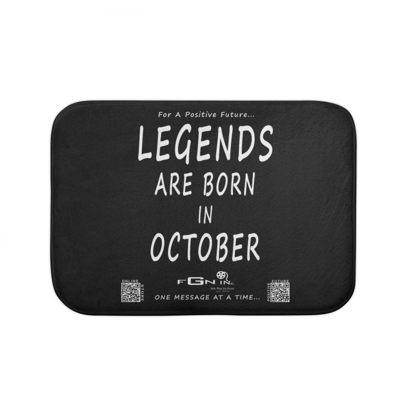 685A - Legends Are Born In October Home Bath Mat by FGN Inc. Online Shop