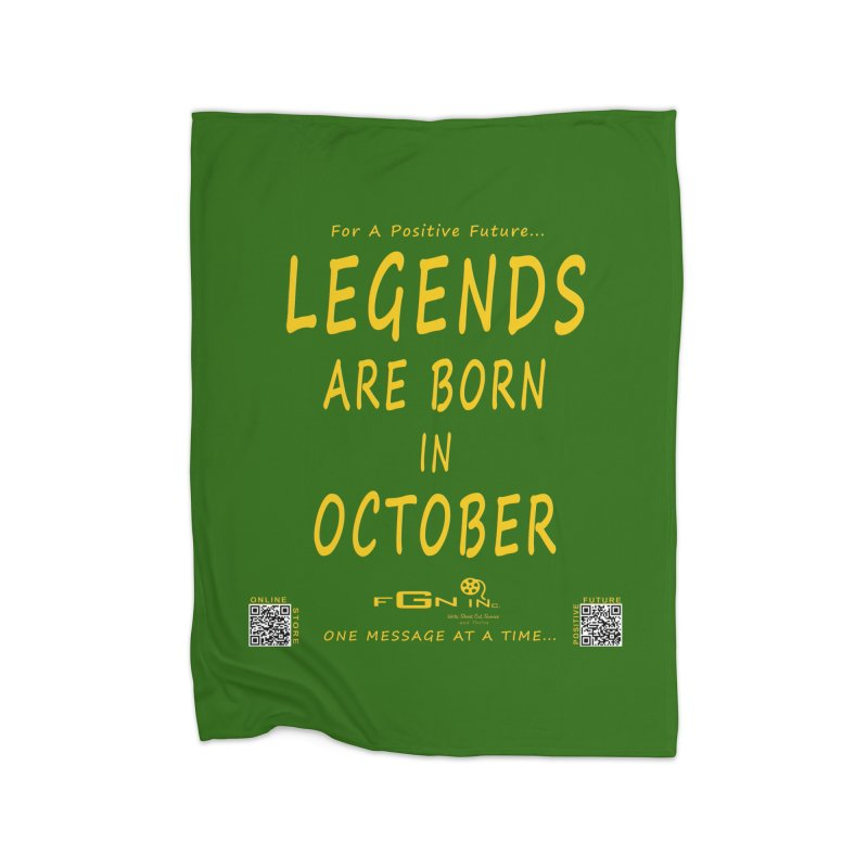 685B - Legends Are Born In October Home Blanket by FGN Inc. Online Shop