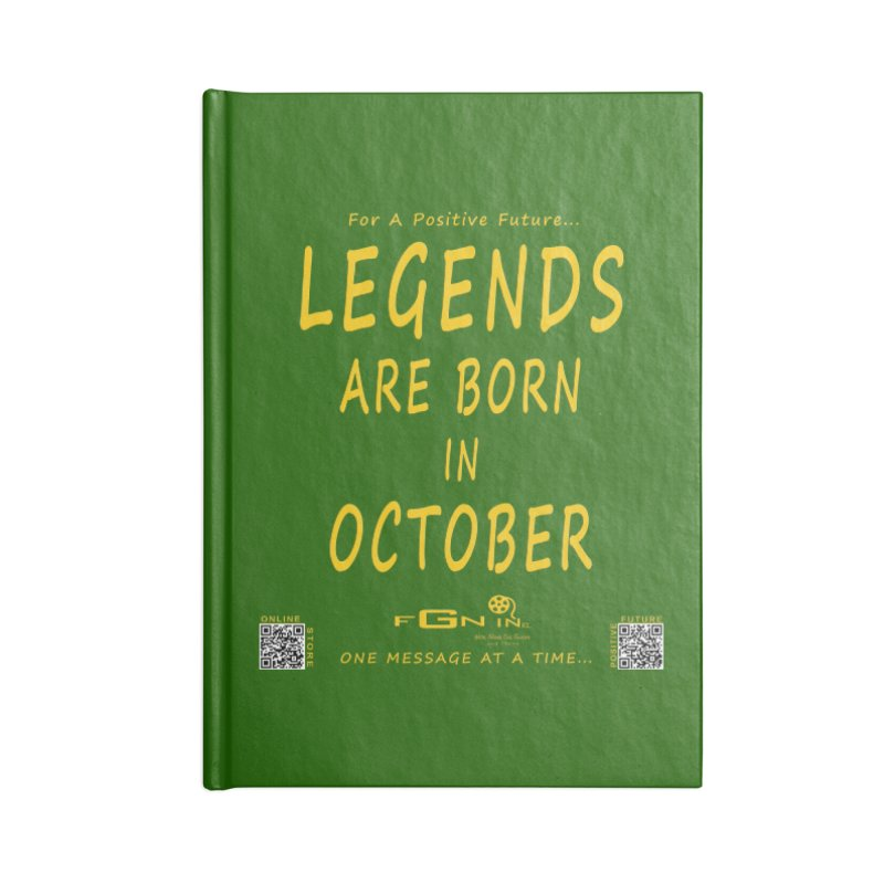 685B - Legends Are Born In October Accessories Notebook by FGN Inc. Online Shop