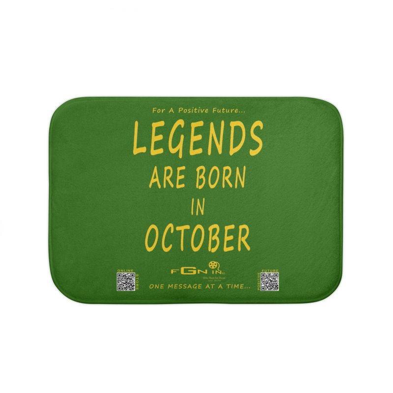 685B - Legends Are Born In October Home Bath Mat by FGN Inc. Online Shop