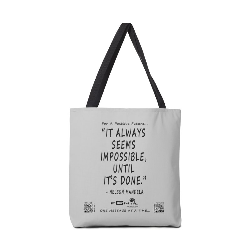 686 - Nelson Mandela Quote Accessories Tote Bag Bag by FGN Inc. Online Shop