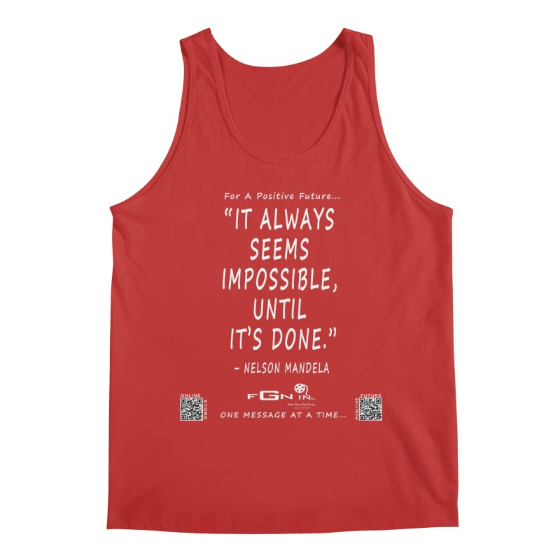 686A - Nelson Mandela Quote Men's Regular Tank by FGN Inc. Online Shop