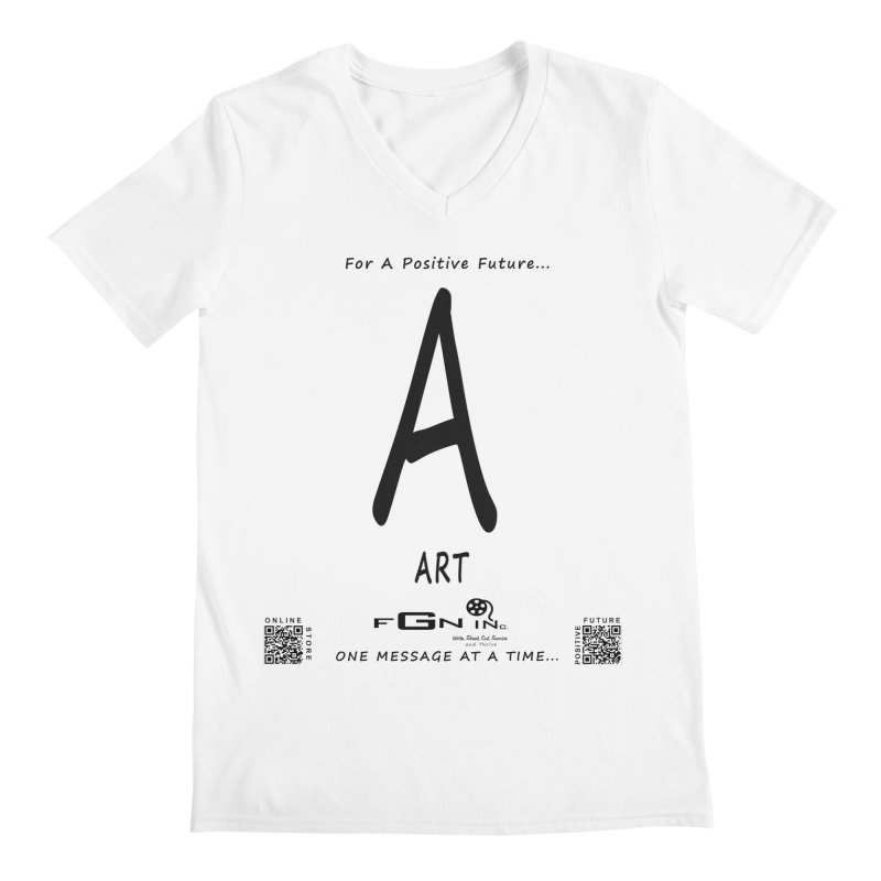 687 - A For Art Men's V-Neck by FGN Inc. Online Shop