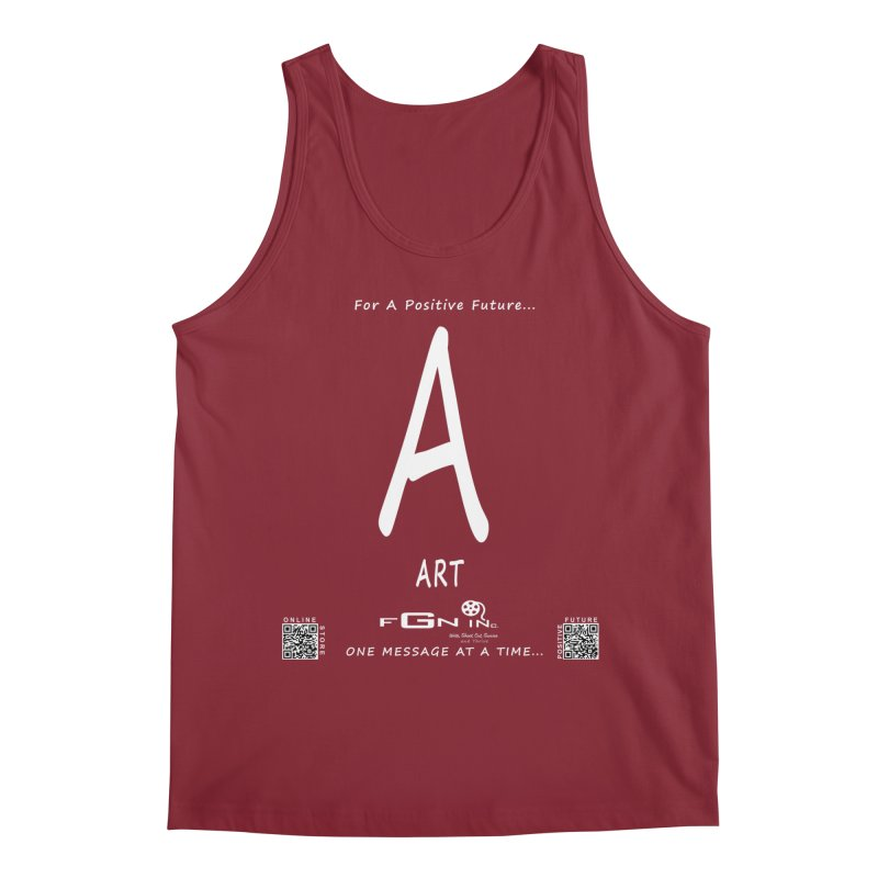 687A - A For Art Men's Regular Tank by FGN Inc. Online Shop