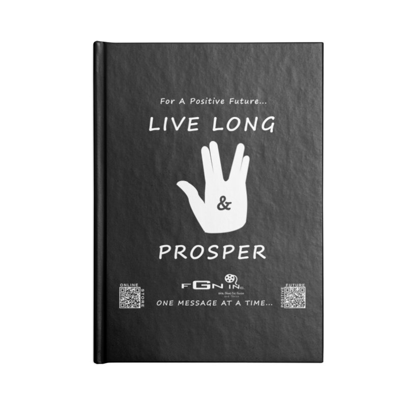 689A - Live Long and Prosper Accessories Blank Journal Notebook by FGN Inc. Online Shop