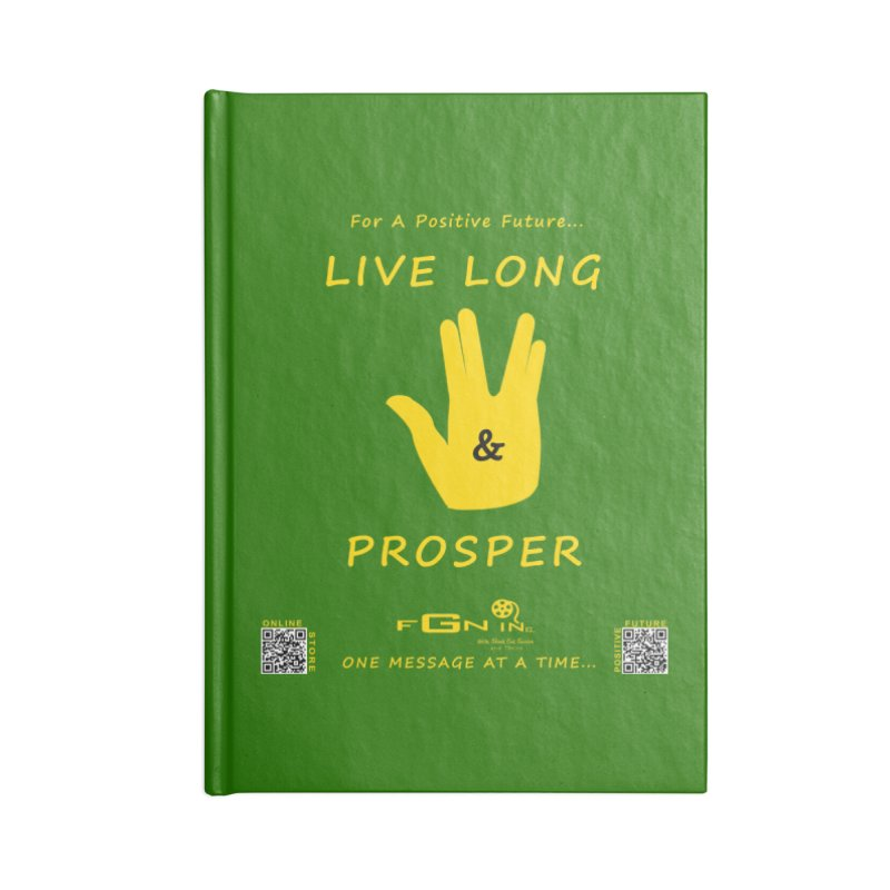 689B - Live Long and Prosper Accessories Blank Journal Notebook by FGN Inc. Online Shop