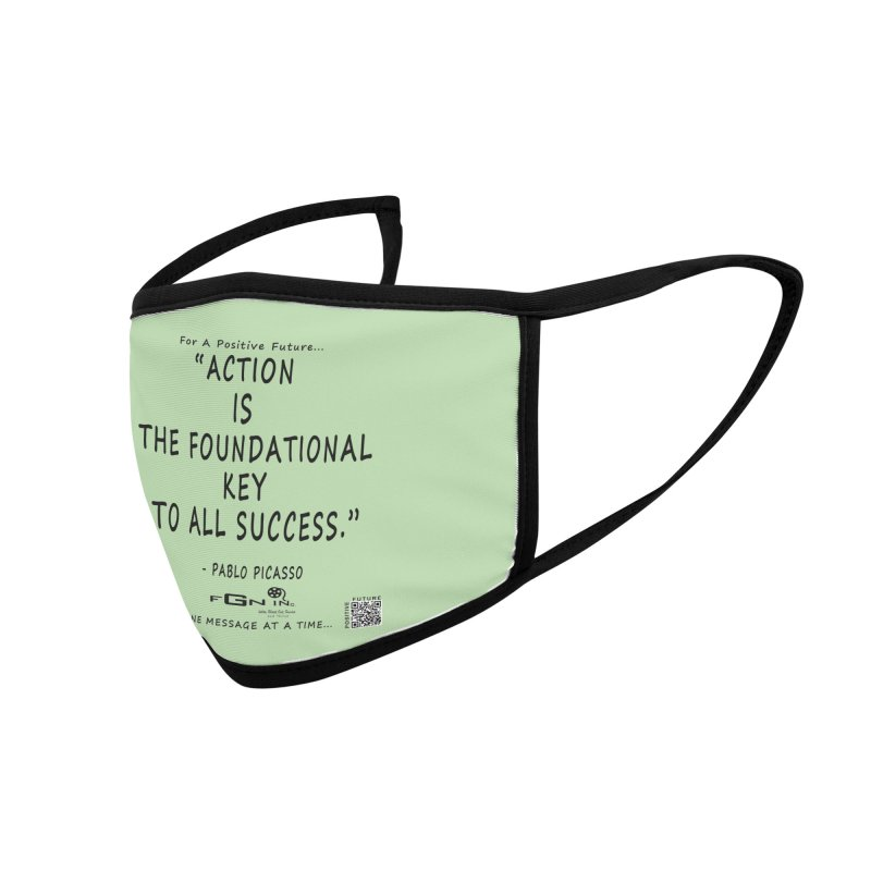 690 - Pablo Picasso Quote Accessories Face Mask by FGN Inc. Online Shop