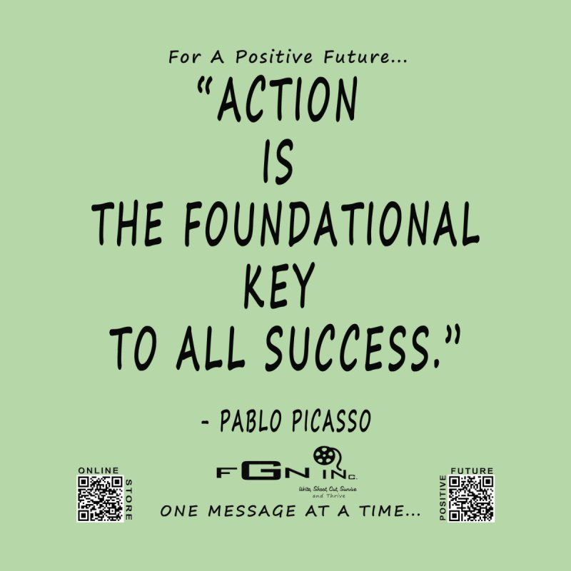 690 - Pablo Picasso Quote None  by FGN Inc. Online Shop