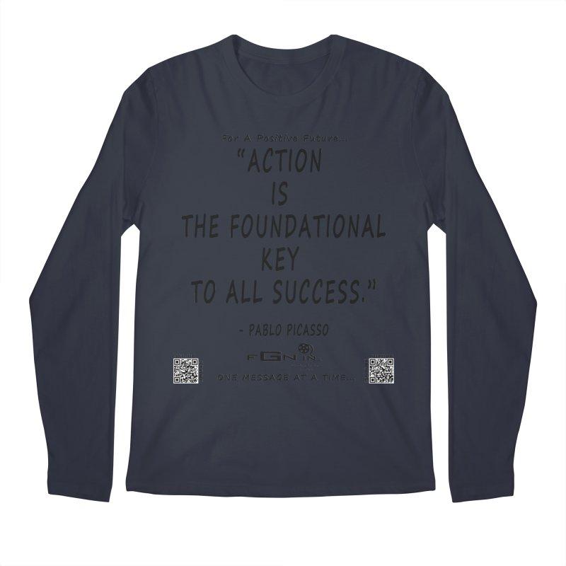 690 - Pablo Picasso Quote Men's Regular Longsleeve T-Shirt by FGN Inc. Online Shop