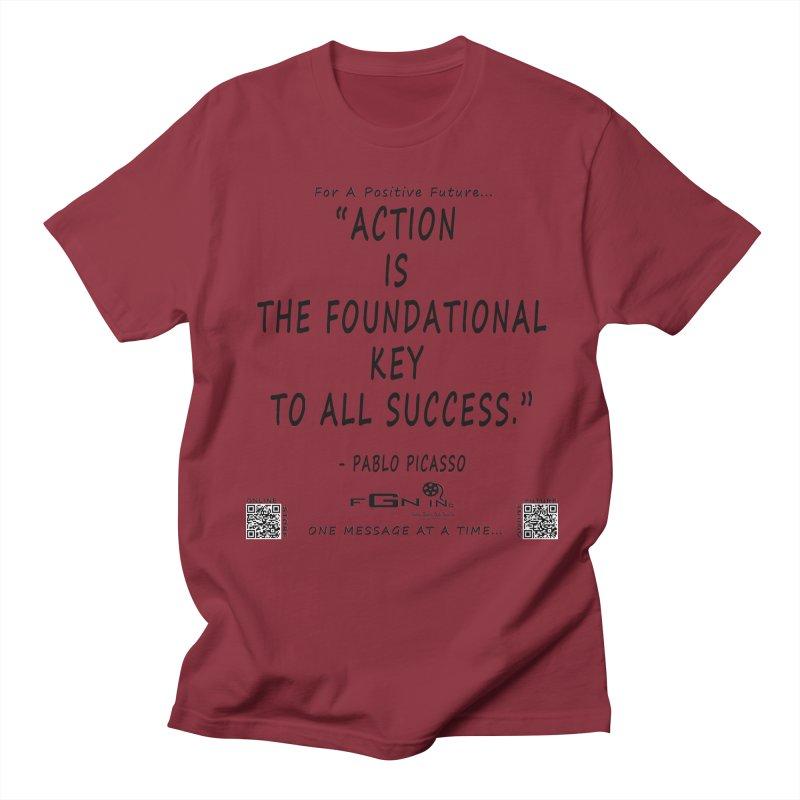 690 - Pablo Picasso Quote Men's Regular T-Shirt by FGN Inc. Online Shop