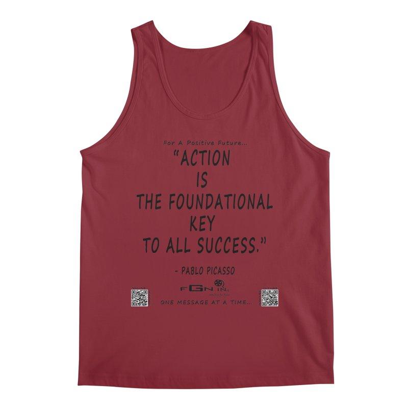690 - Pablo Picasso Quote Men's Regular Tank by FGN Inc. Online Shop