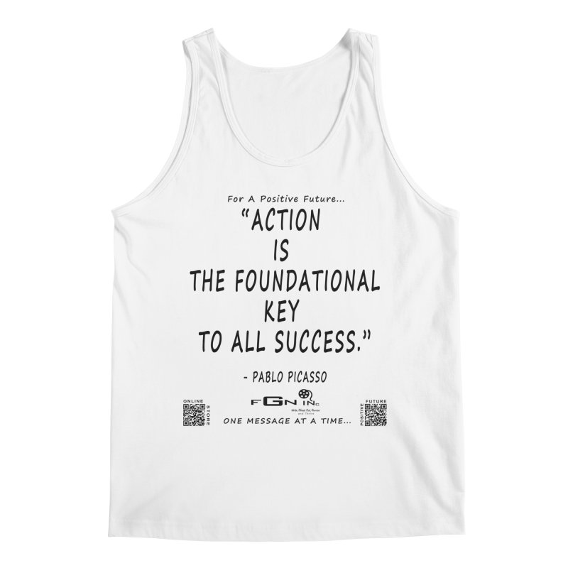 690 - Pablo Picasso Quote Men's Regular Tank by FGN Inc. Online Shop