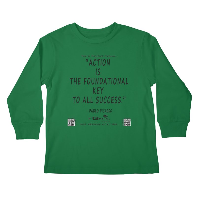 690 - Pablo Picasso Quote Kids Longsleeve T-Shirt by FGN Inc. Online Shop