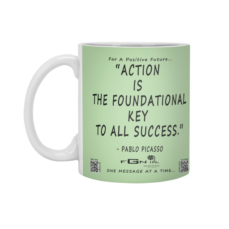 690 - Pablo Picasso Quote Accessories Standard Mug by FGN Inc. Online Shop