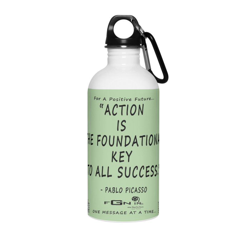 690 - Pablo Picasso Quote Accessories Water Bottle by FGN Inc. Online Shop