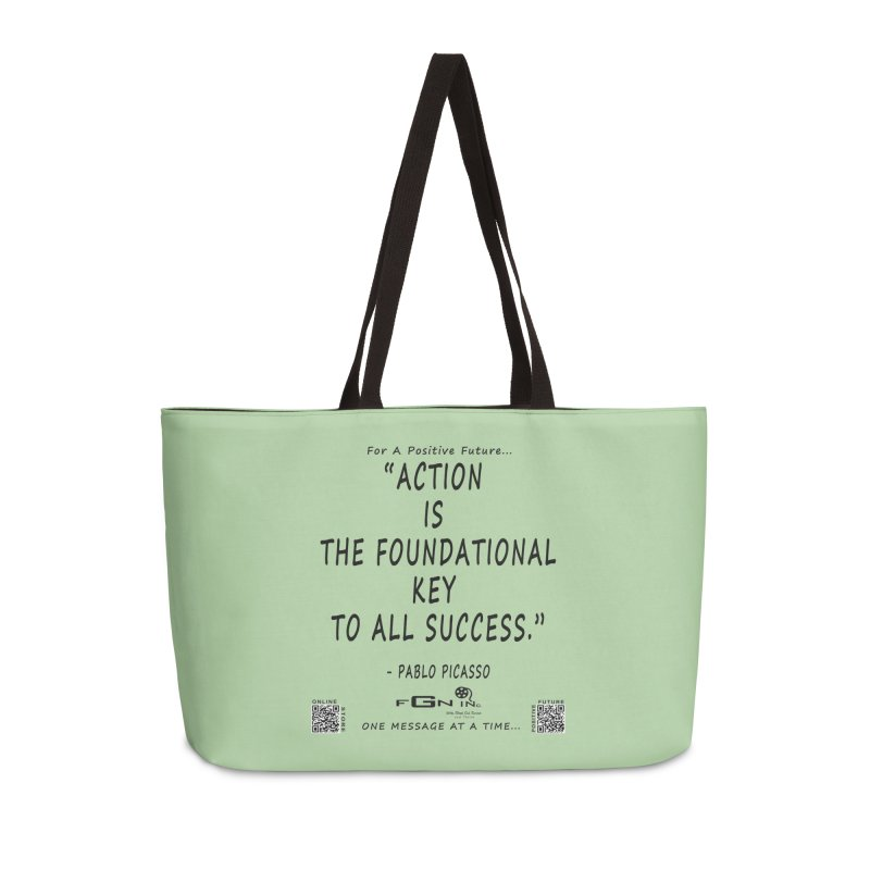 690 - Pablo Picasso Quote Accessories Weekender Bag Bag by FGN Inc. Online Shop
