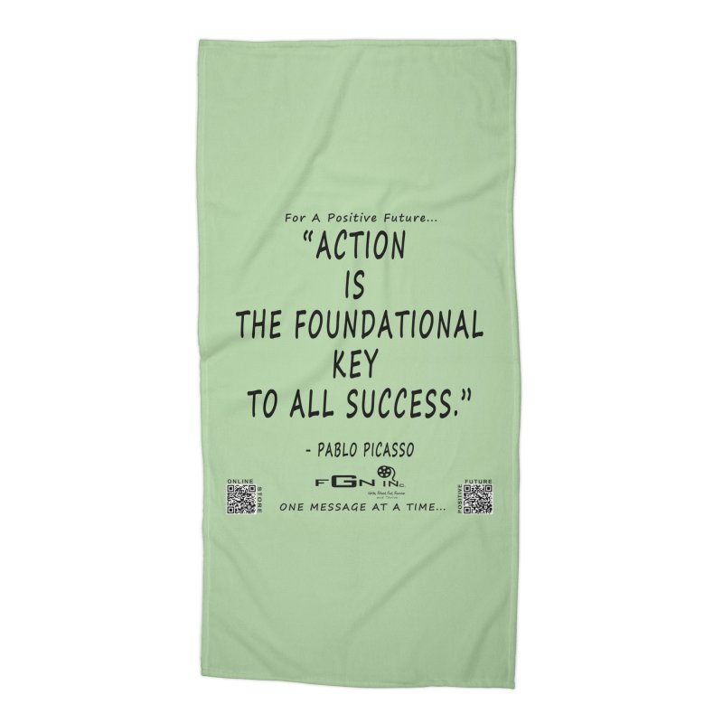 690 - Pablo Picasso Quote Accessories Beach Towel by FGN Inc. Online Shop
