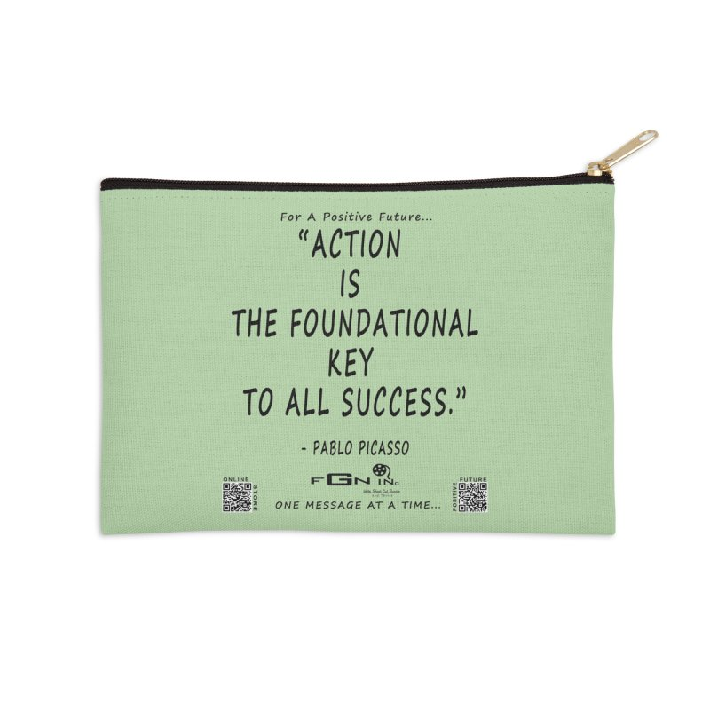 690 - Pablo Picasso Quote Accessories Zip Pouch by FGN Inc. Online Shop