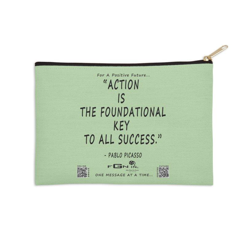 690 - Pablo Picasso Quote Accessories Zip Pouch by FGN Inc. Online Shop