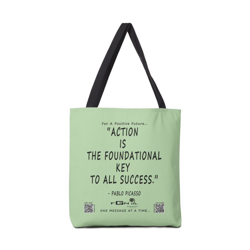 690 - Pablo Picasso Quote Accessories Tote Bag Bag by FGN Inc. Online Shop