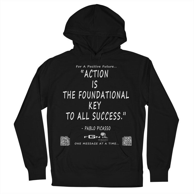 690A - Pablo Picasso Quote Men's French Terry Pullover Hoody by FGN Inc. Online Shop