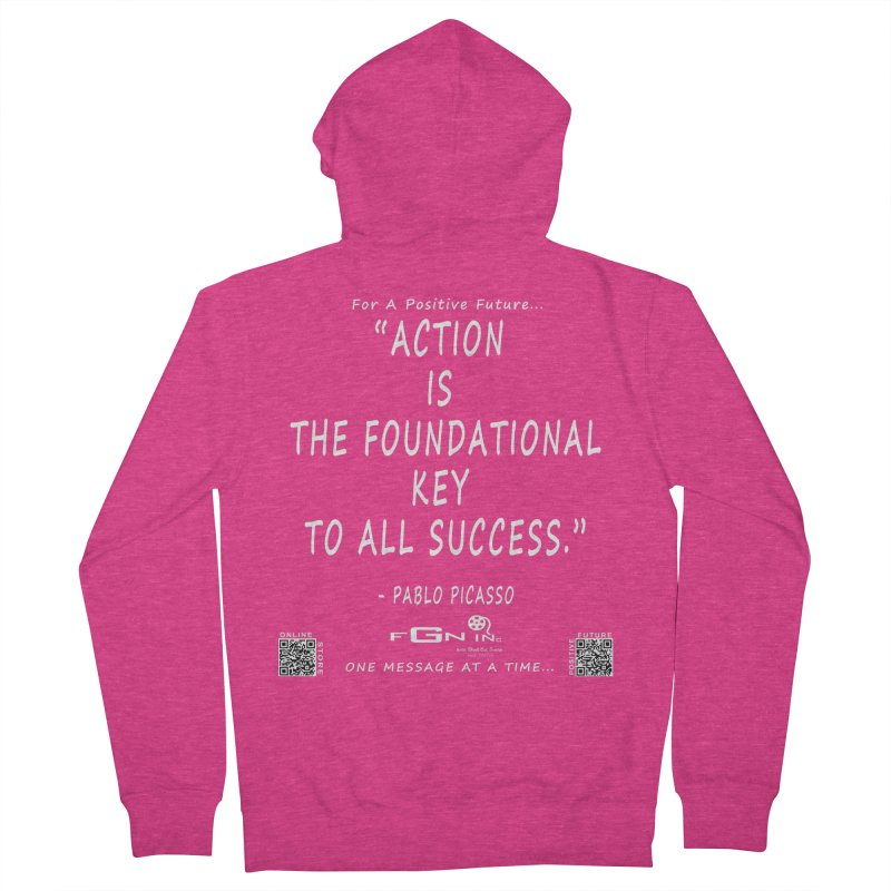 690A - Pablo Picasso Quote Women's French Terry Zip-Up Hoody by FGN Inc. Online Shop
