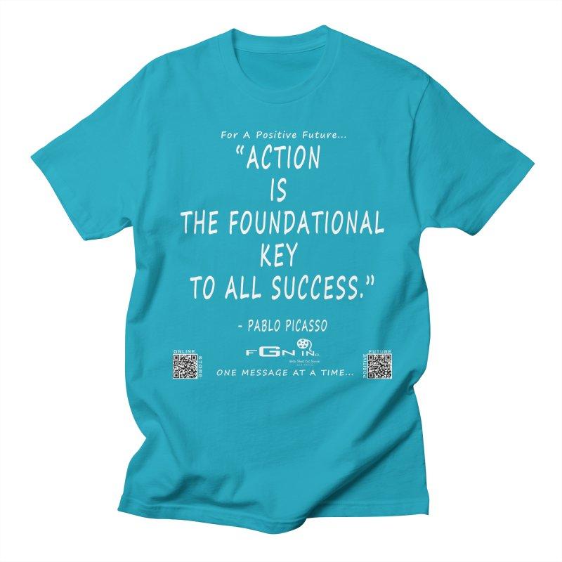 690A - Pablo Picasso Quote Men's Regular T-Shirt by FGN Inc. Online Shop