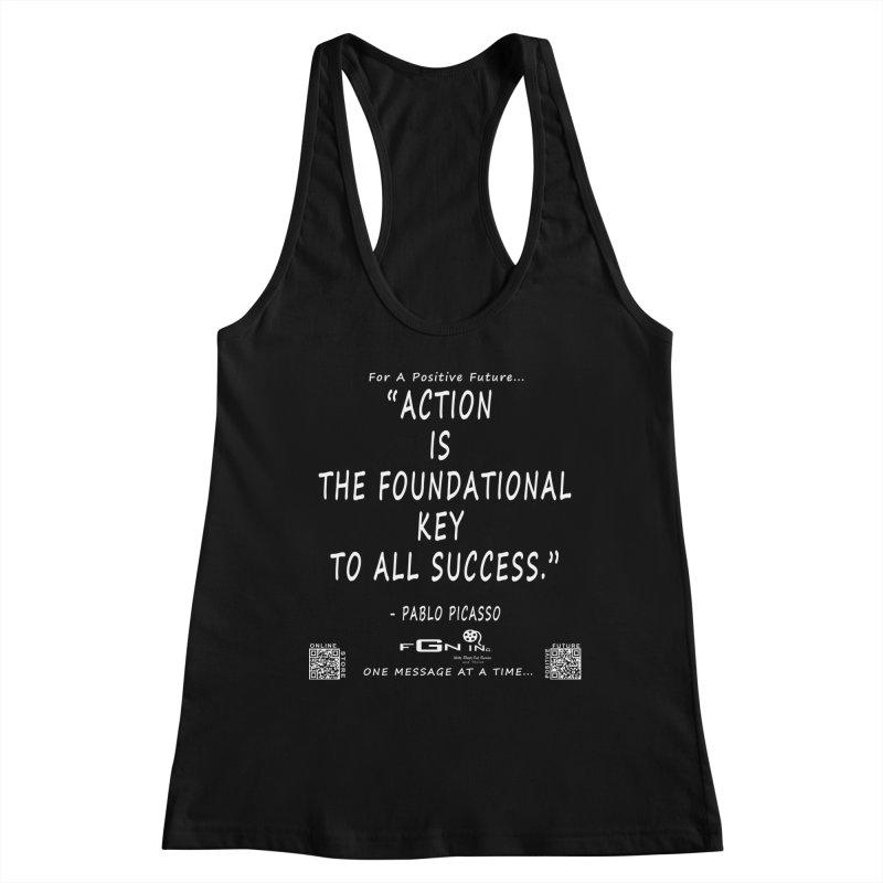 690A - Pablo Picasso Quote Women's Racerback Tank by FGN Inc. Online Shop