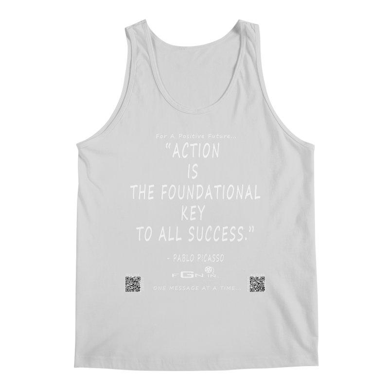 690A - Pablo Picasso Quote Men's Regular Tank by FGN Inc. Online Shop