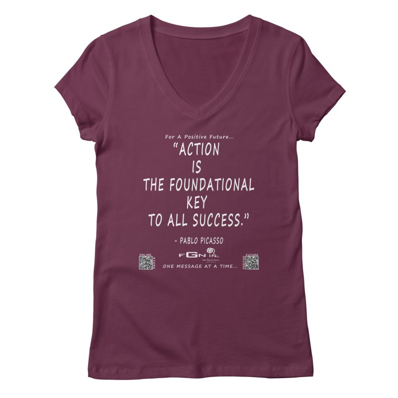 690A - Pablo Picasso Quote Women's Regular V-Neck by FGN Inc. Online Shop